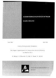 Juni 1966 Institut für Angewandte Kernphysik KFK 458 ... - Bibliothek