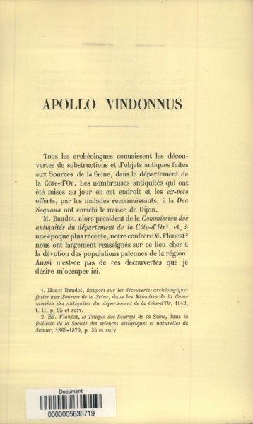 APOLLO VINDONNUS