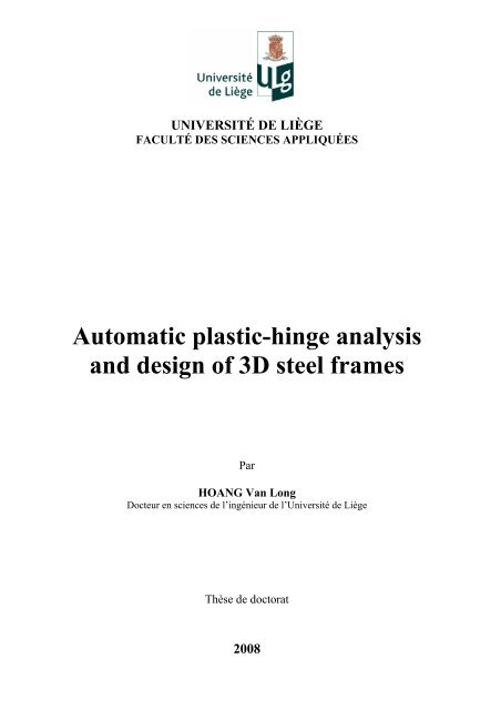 Automatic Plastic Hinge Analysis And Design Of 3d Steel Frames