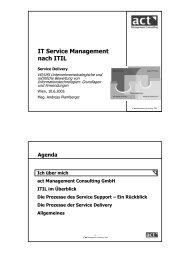 IT Service Management nach ITIL