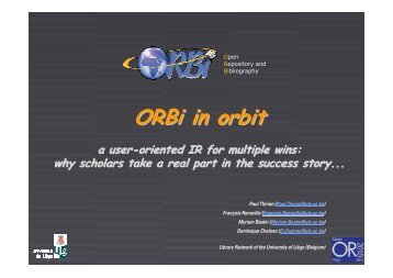 ORBi in orbit