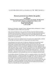 Discours prononcé à la collation des grades - J.W. McConnell ...
