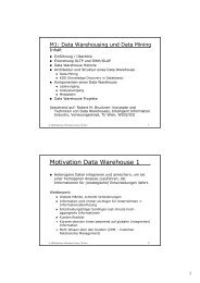 Motivation Data Warehouse 1 - Business Informatics Group