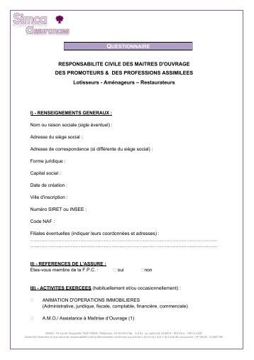 Joint disorder customer questionnaire new ireland assurance - Mentir questionnaire assurance pret immobilier ...