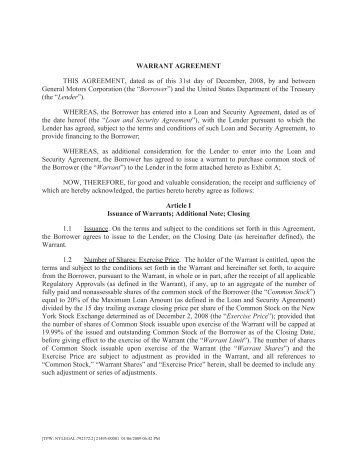 Sample Cash Subordinated Loan Agreement