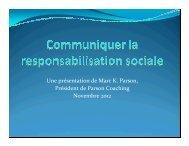 La responsabilité environnementale et social - Aqve.com