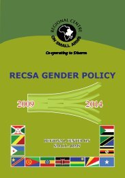 RECSA GENDER POLICY
