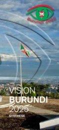 Synthèse de la Vision Burundi 2025 en français