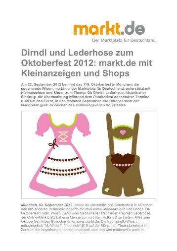 Dirndl und Lederhose zum Oktoberfest 2012: markt.de mit ...