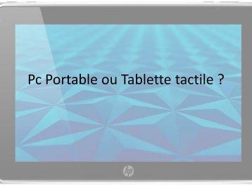 Les Tablettes tactiles - Accueil ciel laurentin
