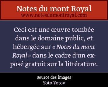Et c'est pour - Notes du mont Royal