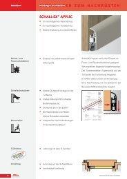 schall-ex® applic dichtungen zum nachrüsten - Krakow-Shop