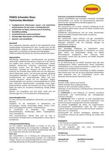 Technisches Merkblatt - Krakow-Shop