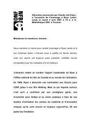 Allocution prononcée par Claude Joli-Cœur, à l'occasion de l ...