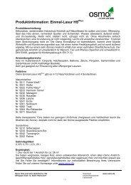 Produktinformation: Einmal-Lasur HS - Osmo