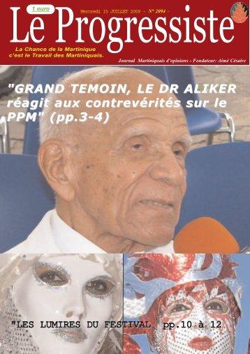 """""""LES LUMIRES DU FESTIVAL pp.10 à 12 - PPM – Parti Progressiste ..."""