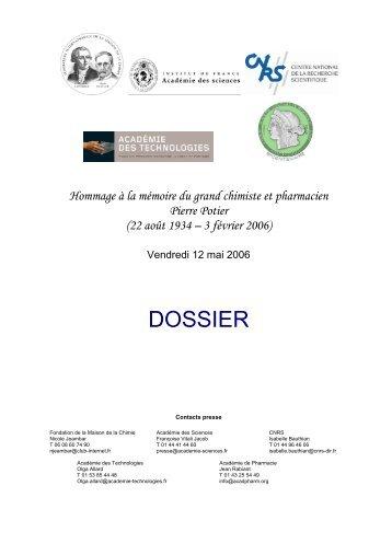 Consulter le dossier de presse en ligne - CNRS