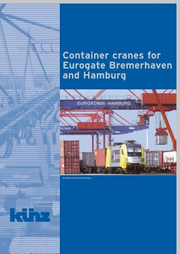 Container cranes for Eurogate Bremerhaven and Hamburg