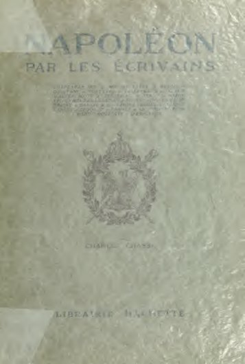 Napoléon par les écrivains - University of Toronto Libraries