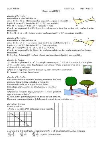 NOM Prénom : Classe : 300 Date :16/10/12 ... - Nouvelle page 2