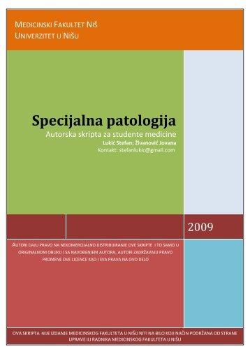 SpecijalnaPatologija Nis.pdf - Beli Mantil