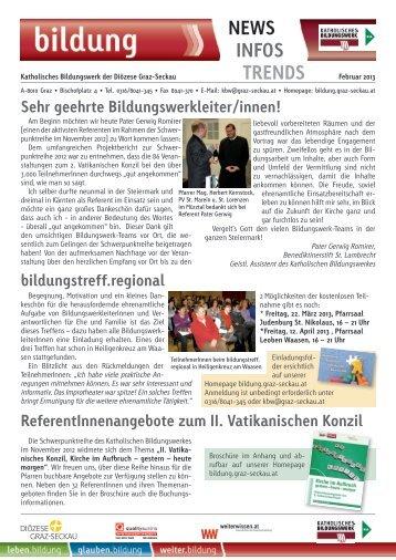 Newsletter Februar 2013 - Katholisches Bildungswerk Steiermark
