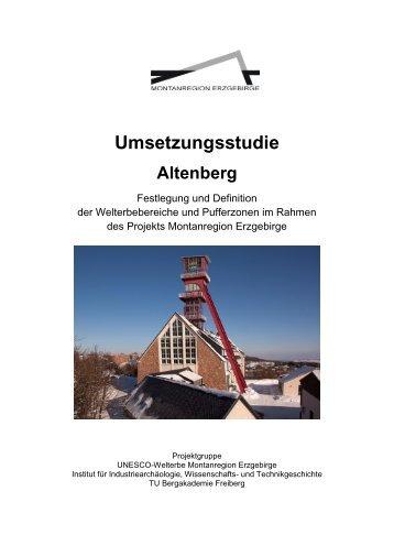 Umsetzungsstudie Altenberg - Wirtschaftsförderung Erzgebirge GmbH