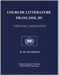 COURS DE LITTÉRATURE FRANÇAISE, III - World eBook Library