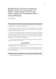 Emergence et évolution du droit dans les petits états insulaires du ...