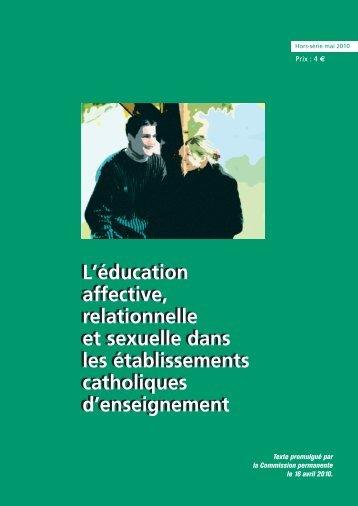 L'éducation affective, relationnelle et sexuelle dans les ...