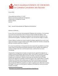 15 mai 2012 L'honorable Jason Kenney, C.P., M.P. Ministre de la ...