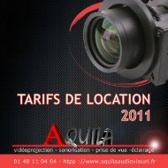 tarifs 2011.pdf - Aquila audiovisuel