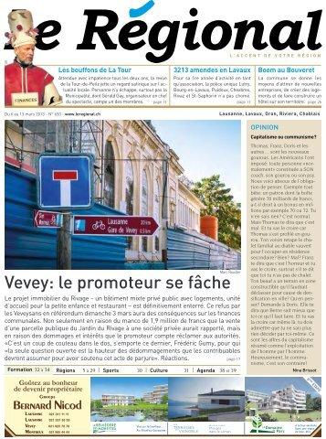Vevey: le promoteur se fâche - Le Régional