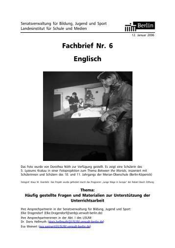Fachbrief Nr. 6 Englisch - Bildungsserver Berlin - Brandenburg
