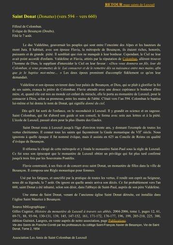 Saint Donat - L'association des Amis de Saint Colomban