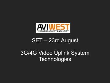 AVIWEST: Company & Products presentation - SET