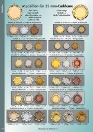 Medaillen für 25 mm-Embleme - Vereinsbedarf Jansen