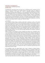 HISTORY OF TELEPRESENCE - FAMU