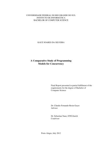 A Comparative Study of Programming Models for ... - Saloon - Ufrgs