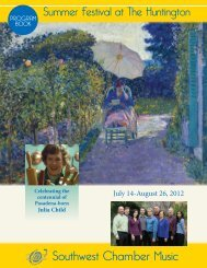 Summer Festival at The Huntington - Southwest Chamber Music
