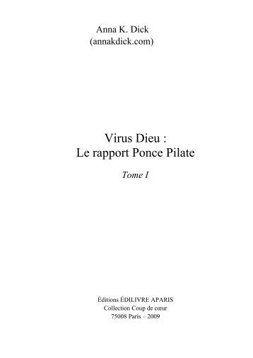 Virus Dieu - Le Rapport Ponce Pilate-The Pontius Pilate Report
