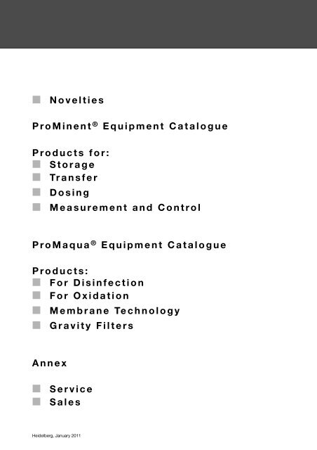 ProMinent® Chemical Resistance List - say su arıtma