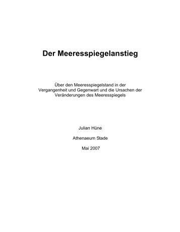 Der Meeresspiegelanstieg - Hamburger Bildungsserver