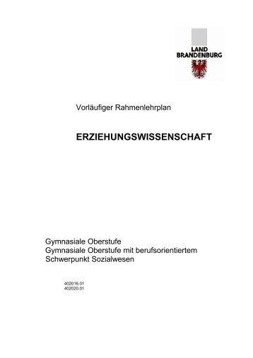 Erziehungswissenschaft - Bildungsserver Berlin - Brandenburg