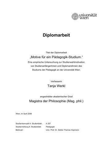 dissertation uni wien bildungswissenschaft