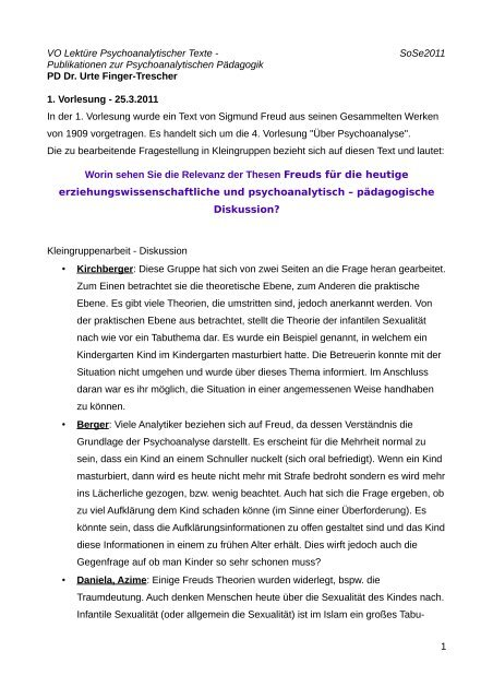 Text Kleingruppendiskussion