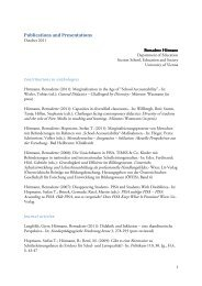 Publications and Presentations