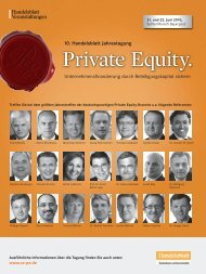 Private Equity. - IIR Deutschland GmbH