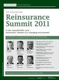 In the unpredictable cycle – (re)insurers' answers to a changing ...
