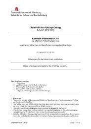 Kurs auf erhöhtem Niveau - Hamburger Bildungsserver